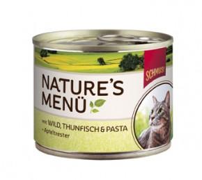 Schmusy Natures Menü mit Wild, Thunfisch & Pasta + Apfeltrester Dose 190 g